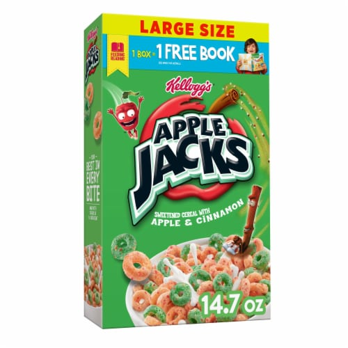Kellogg's Apple Jacks Breakfast Cereal Original Perspective: front