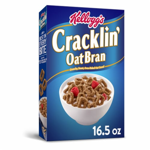 Kellogg's Cracklin Oat Bran Breakfast Cereal Original Perspective: front