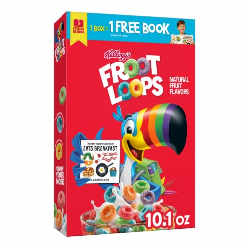 Kellogg's Froot Loops Breakfast Cereal Original Perspective: front