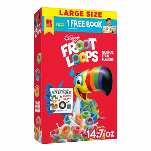 Froot Loops Cereal Perspective: front