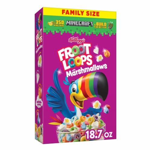 Kellogg's Froot Loops with Marshmallows Cereal Perspective: front