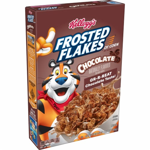 Kellogg's Frosted Flakes Breakfast Cereal Chocolate Perspective: front
