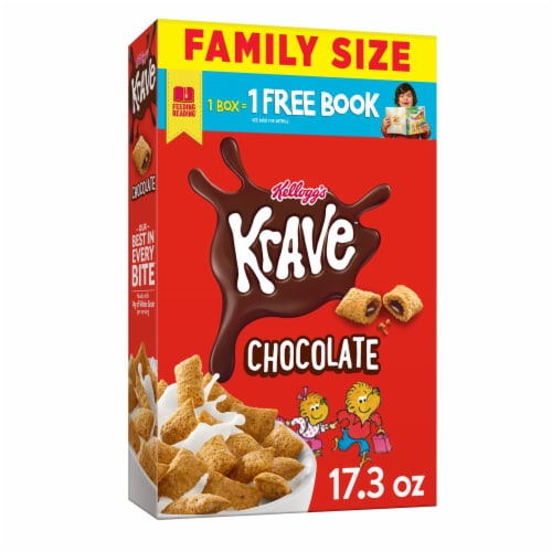 Krave Chocolate Cereal Perspective: front