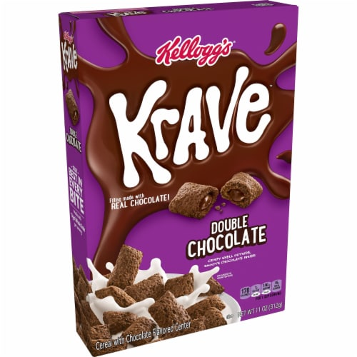 Kellogg's Krave Breakfast Cereal Double Chocolate Perspective: front
