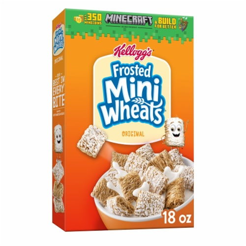 Kellogg's Frosted Mini-Wheats Breakfast Cereal Original Perspective: front