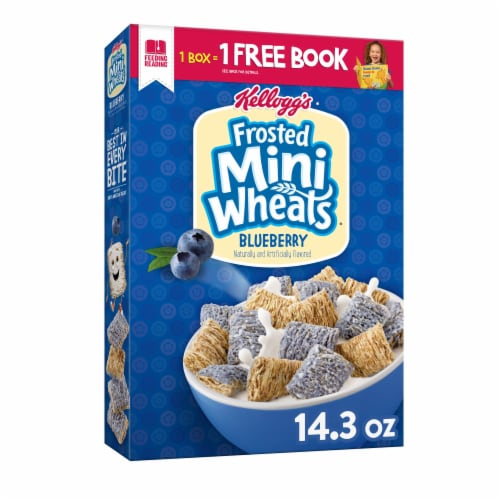 Kellogg's Frosted Mini-Wheats Breakfast Cereal Blueberry Perspective: front