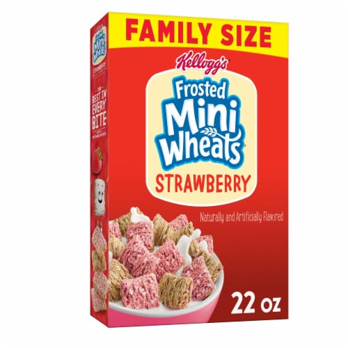 Frosted Mini-Wheats Strawberry Cereal Perspective: front