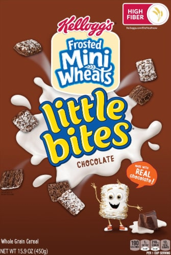 Kellogg's Frosted Mini-Wheats Little Bites Breakfast Cereal Chocolate Perspective: front