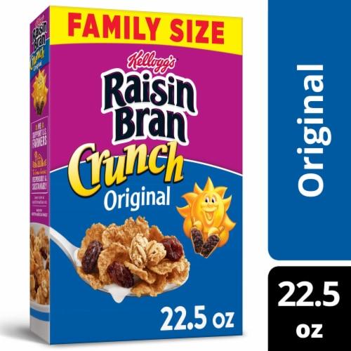 Kellogg's Raisin Bran Crunch Breakfast Cereal Original Perspective: front