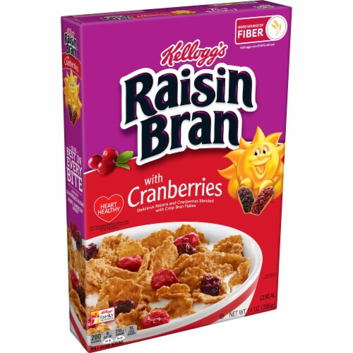 Raisin Bran with Cranberry Cereal Perspective: front
