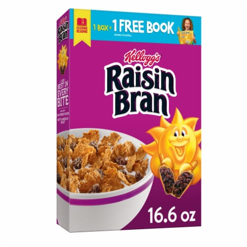 Kellogg's Raisin Bran Breakfast Cereal Original Perspective: front