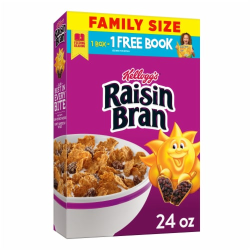 Kellogg's Raisin Bran Breakfast Cereal Original Family Size Perspective: front