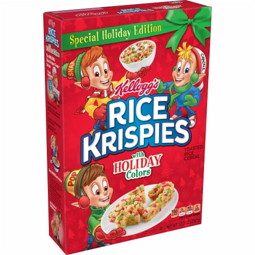 Rice Krispies Holiday Cereal Perspective: front