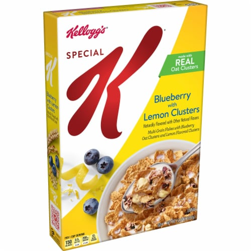 Special K Blueberry with Lemon Clusters Cereal Perspective: front