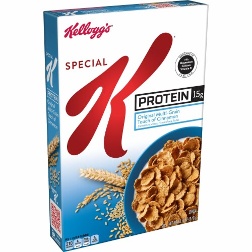 Kellogg's Special K Protein Breakfast Cereal Original Multi-Grain Touch of Cinnamon Perspective: front