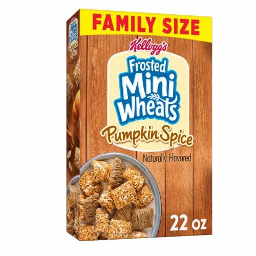 Kellogg's Pumpkin Spice Mini-Wheats Cereal Perspective: front
