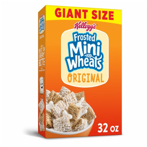 Frosted Mini-Wheats Original Whole Grain Cereal Giant Size Perspective: front