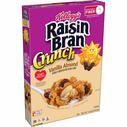 Kellogg's Raisin Bran Breakfast Cereal Vanilla Almond Perspective: front