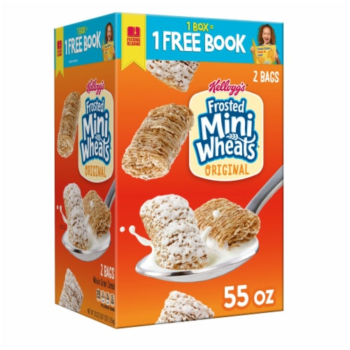 Frosted Mini-Wheats Original Whole Grain Cereal Perspective: front