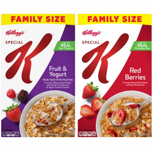 Special K Fruit & Yogurt and Red Berries Cereal Value Size Perspective: front