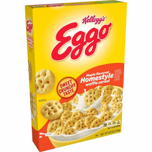 Kellogg's Eggo Maple Flavored Homestyle Cereal Perspective: front