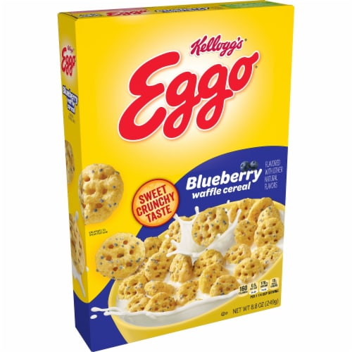 Kellogg's Eggo Blueberry Waffle Cereal Perspective: front