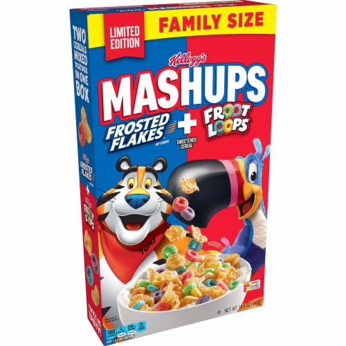 Kellogg's Frosted Flakes & Froot Loops Mashups Cereal Perspective: front