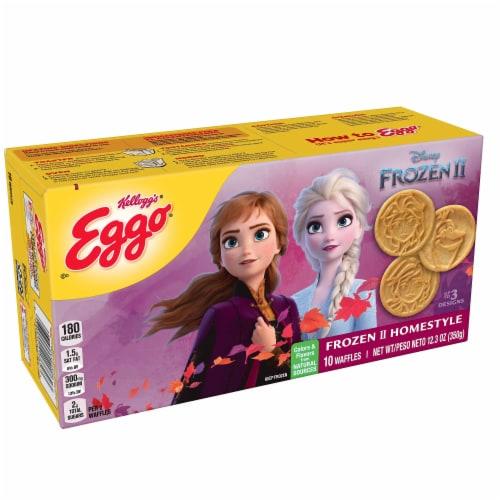 Eggo Disney Frozen 2 Frozen Breakfast Waffles Homestyle Perspective: front