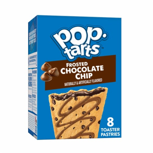 Pop-Tarts Frosted Chocolate Chip Toaster Pastries Perspective: front