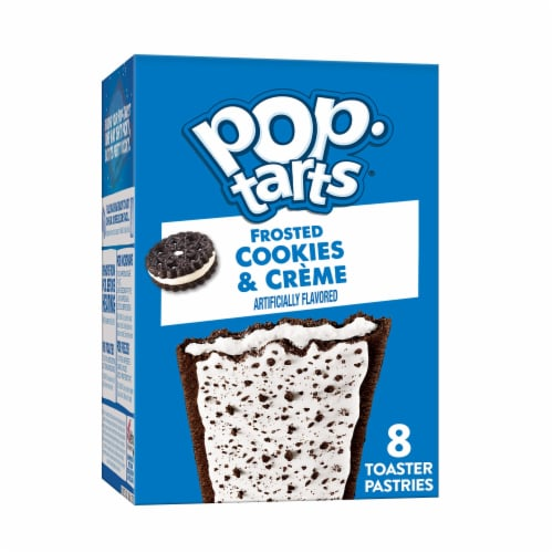 Kellogg's Pop-Tarts Breakfast Cookies and Creme Toaster Pastries Perspective: front