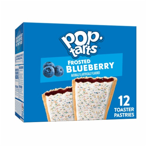 Pop-Tarts Frosted Blueberry Toaster Pastries Perspective: front