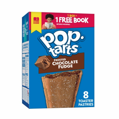 Pop-Tarts Frosted Chocolate Fudge Toaster Pastries Perspective: front