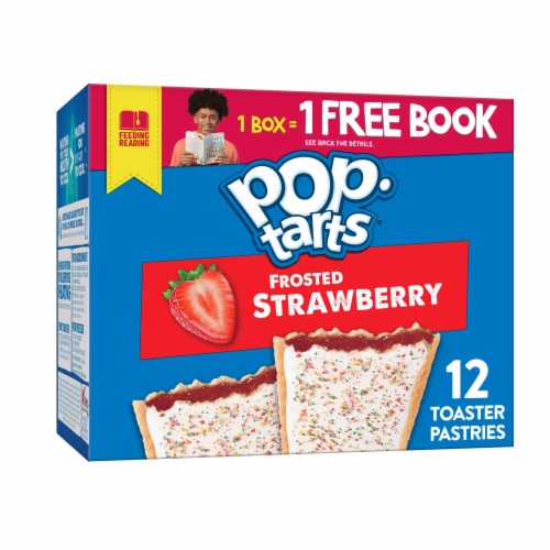 Pop-Tarts Frosted Strawberry Toaster Pastries Perspective: front