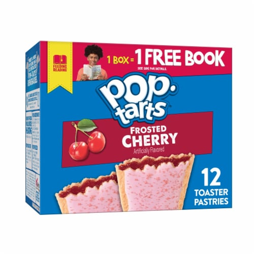 Pop-Tarts Frosted Cherry Toaster Pastries Perspective: front