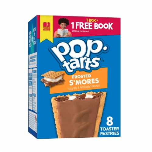 Kellogg's Pop-Tarts Breakfast Frosted S'mores Toaster Pastries Perspective: front