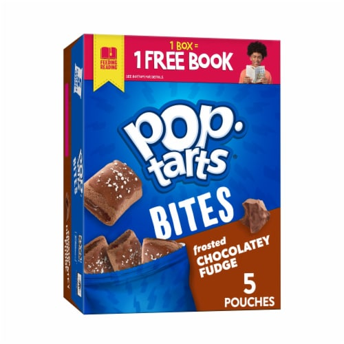Kellogg's Pop-Tarts Frosted Chocolate Fudge Bites Perspective: front
