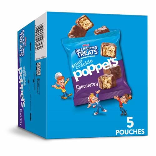 Rice Krispies Treats Snap Crackle Poppers Chocolatey Crispy Marshmallow Squares Perspective: front