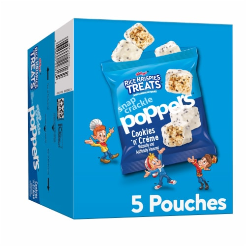 Rice Krispies Treats Snap Crackle Poppers Cookies & Creme Crispy Marshmallow Squares Perspective: front