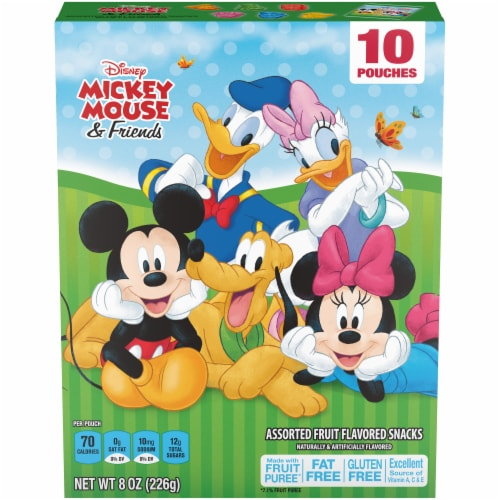 Kellogg's Disney Mickey Mouse & Friends Assorted Fruit Snacks Perspective: front
