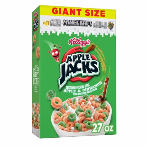 Apple Jacks Apple & Cinnamon Scented Cereal Perspective: front