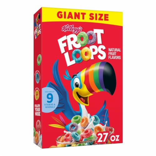 Kellogg's Froot Loops Cereal Perspective: front