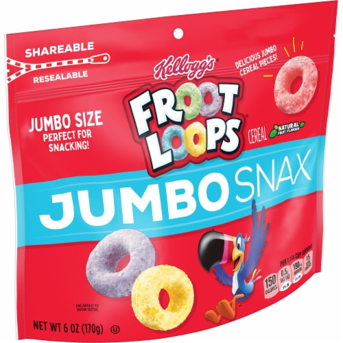 Froot Loops Jumbo Snax Cereal Perspective: front