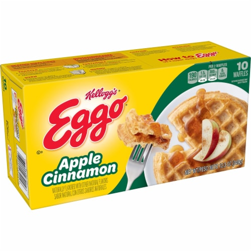 Eggo Apple Cinnamon Waffles Perspective: front