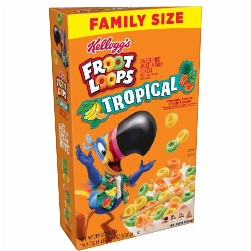 Kellogg's Froot Loops Tropical Fruit Cereal Perspective: front