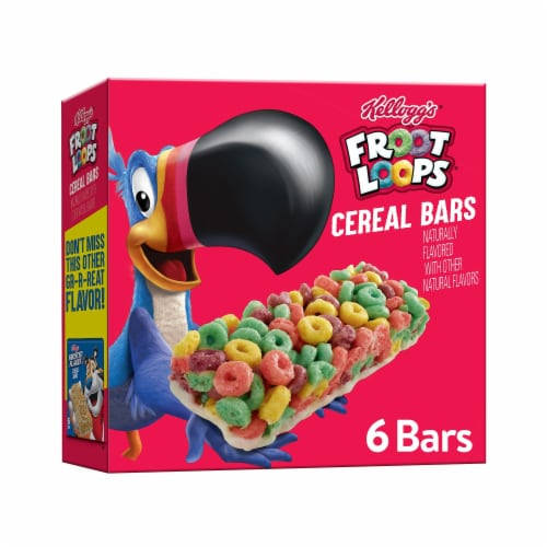 Froot Loops Cereal Bars Perspective: front