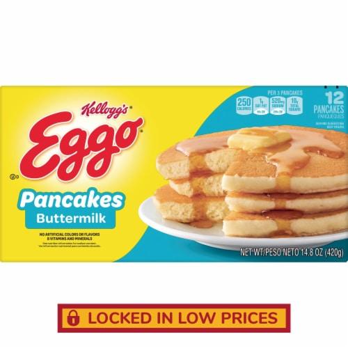 Kellogg's Eggo Buttermilk Pancakes Perspective: front