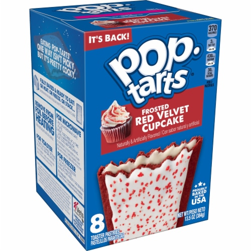 Kellogg's Frosted Red Velvet Cupcake Pop-Tarts Perspective: front