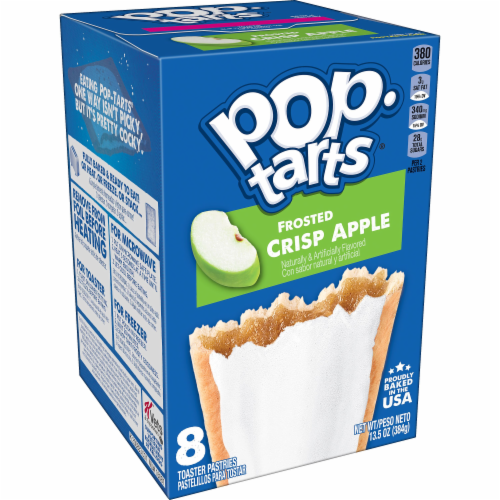 Kellogg's Frosted Crisp Apple Pop-Tarts Perspective: front
