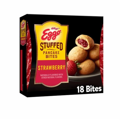 Eggo Frozen Breakfast Strawberry Stuffed Pancake Bites Perspective: front