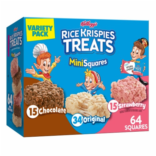 Rice Krispies Treats Crispy Marshmallow Mini Squares Variety Pack Perspective: front